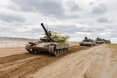 ZHYTOMYR Reg, UKRAINE - Oct. 14, 2017: Combat training of the Armed Forces of Ukraine in the training center of Zhytomyr region. Editorial