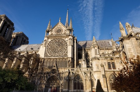 Notre-Dame de Paris is a medieval Catholic cathedral in the fourth arrondissement of Paris and one of the finest examples of French Gothic architecture