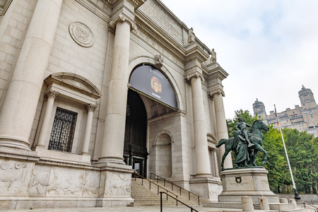 NEW YORK, USA - Sep 16, 2017: American Museum of Natural History (AMNH), located on the Upper West Side of Manhattan and is one of the largest museums in the world Editorial