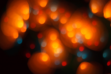 Abstract lights background. Blurred and soft focus image of festive lights with bokeh