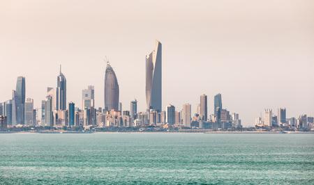 KUWAIT CITY, KUWAIT - 19 Mar 2018: Kuwaits coastline and skyline Editorial