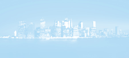 Manhattan soft focus city background. Night New York City skyline panorama. Defocused image of Manhattan in light blue tonality Stock Photo