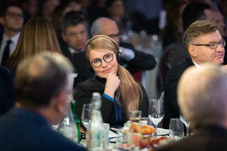 DAVOS, SWITZERLAND - Jan 23, 2019: Peoples deputy of Ukraine Yulia Timoshenko during World Economic Forum Annual Meeting in Davos, Switzerland Sajtókép