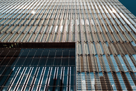 NEW YORK, USA - May 04, 2015: Manhattan modern architecture. Manhattan is the most densely populated of the five boroughs of New York City