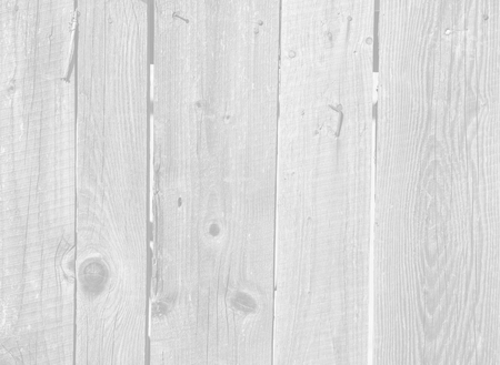 Close up of old gray wooden fence panels. Image in light gray tonality