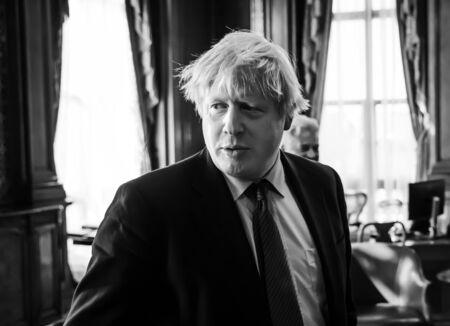 LONDON, UK - Apr 19, 2017: Boris Johnson during a working meeting in London with President of Ukraine Petro Poroshenko