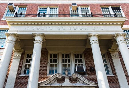 NEW YORK, USA - Apr 27, 2016: Morris H. Weiss School in Brooklyn, NY. Public School 215 is a warm and inviting school with strong programs in science and music