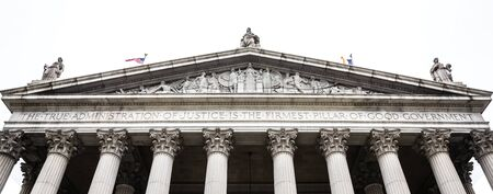 NEW YORK, USA - Apr 28, 2016: New York State Supreme Court Building, originally known as New York County Courthouse, at 60 Centre Street on Foley Square in Civic Center district of Manhattan, NYC Editorial