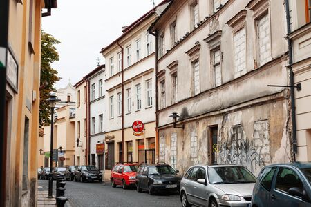 Lublin, Poland - Jul 21, 2012: Streets and architecture of the old city of Lublin. Lublin is the ninth largest city in Poland