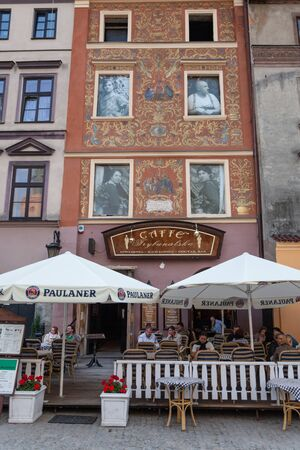 Lublin, Poland - Jul 20, 2012: Streets and architecture of the old city of Lublin. Lublin is the ninth largest city in Poland