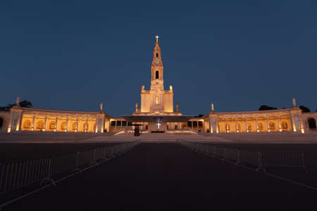 Basilica of the Sanctuary of Our Lady of Fatima. The Fatima Sanctuary And Pilgrimage Destination In Portugal