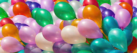 Bunch of colorful balloons. Abstract holiday background