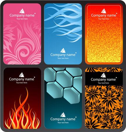 Set of colorful business cards (set 2) Illustration