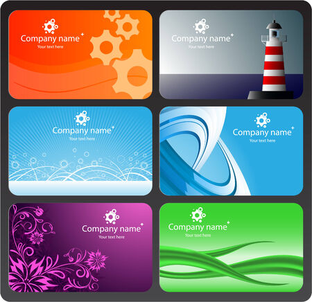 Set of colorful business cards Stock Vector - 5193234