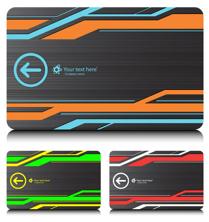 business cards set6 Vector
