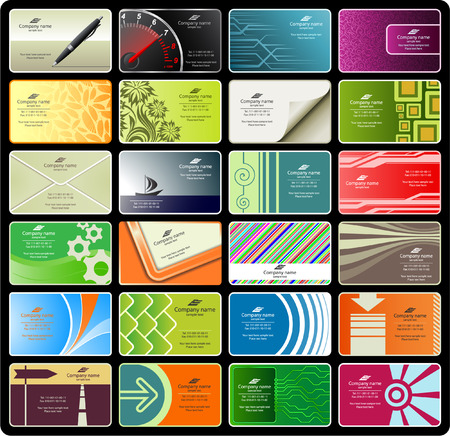 business cards (set 8) Stock Vector - 5712923