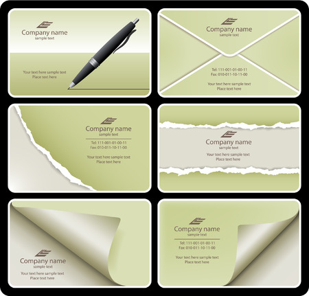 ruined: Business card set 9