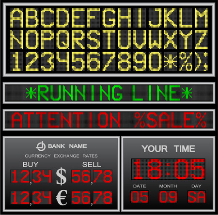 scorebord: elektronische alfabet