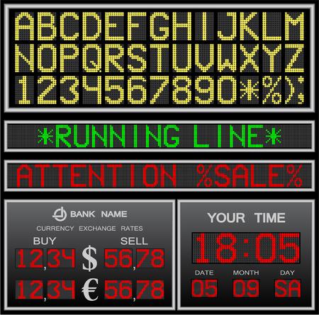 elektronische alphabet Vektorgrafik