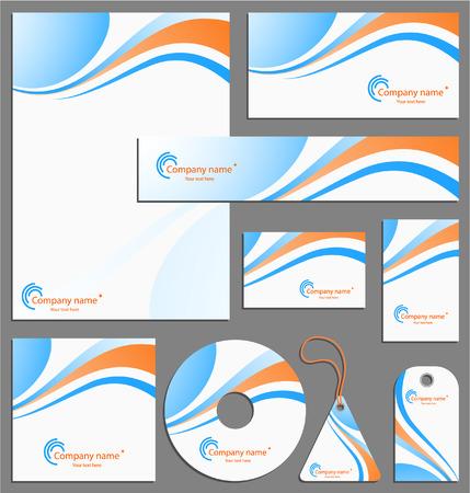 personalausweis: Briefkopf Vorlage design Illustration