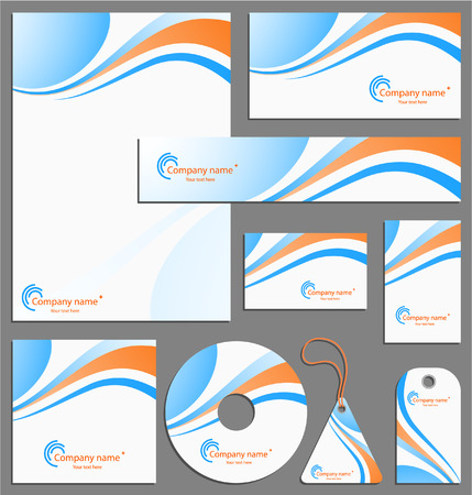 Letterhead template design Illustration