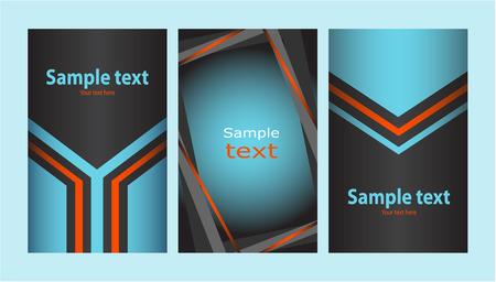 Business card (set 14) Illustration