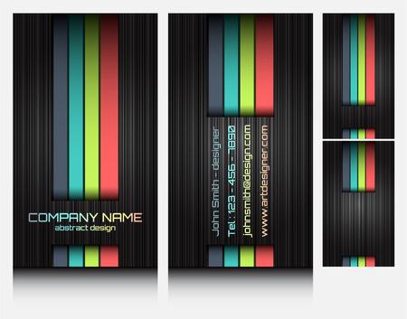 business cards set 46 Vettoriali