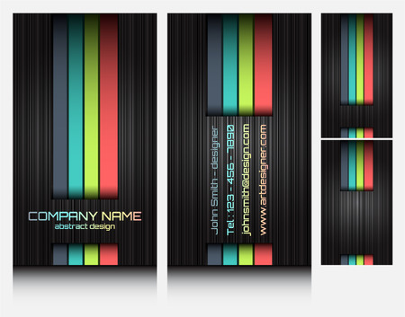business cards set 46 Vector