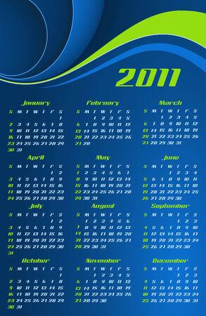 abstract calendar, design template for 2011 Vector