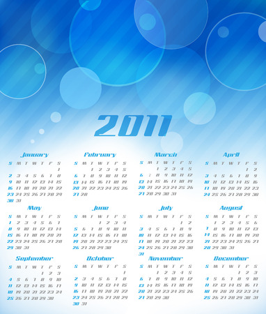 abstract calendar, design template for 2011 Stock Vector - 8107689