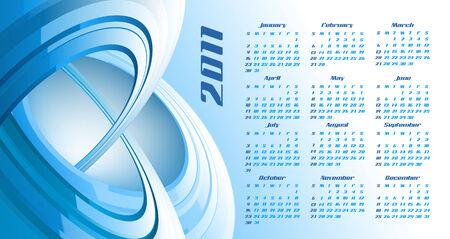 calendar design: abstract calendar, design template for 2011 Illustration