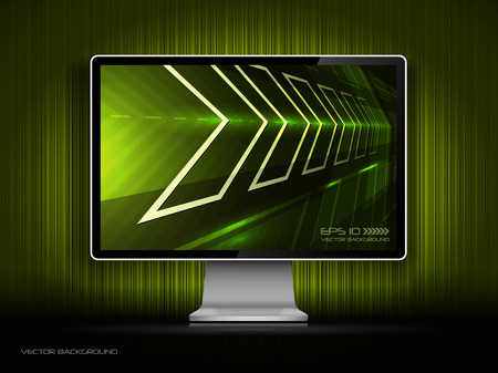 digital LCD monitor Vector