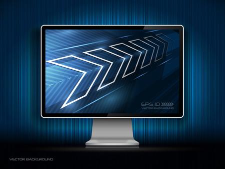monitor de computadora: monitor LCD digital  Vectores