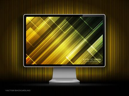 digital LCD monitor Stock Vector - 8193459