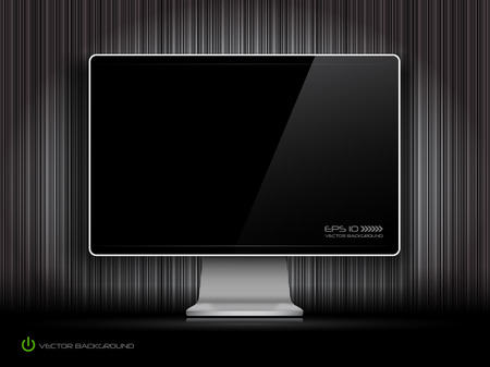 digital LCD monitor Vector