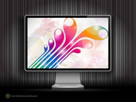 digital LCD monitor Stock Vector - 8193457