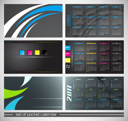 abstract pocket calendar, design template for 2011 Stock Vector - 8193465