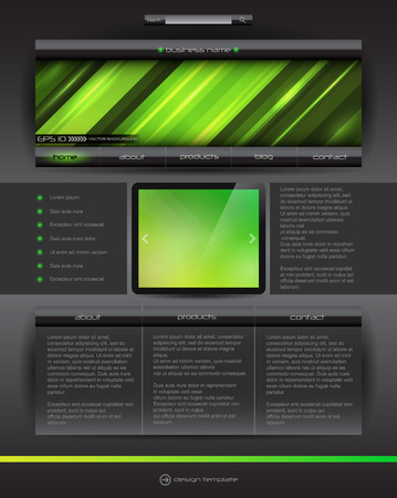 Vector Website design template, creative Illustration