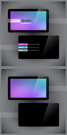Vector abstract creative business cards (set template) Vector