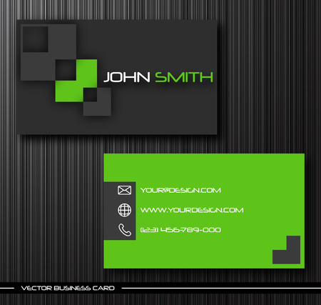 Vector abstract creative business cards (set template) Stock Vector - 8420094