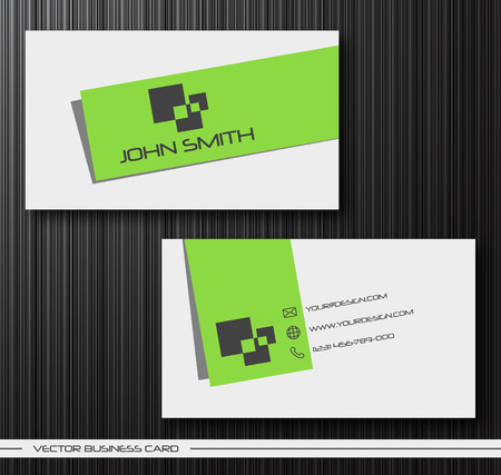 abstract creative business cards (set template) Stock Vector - 8967528