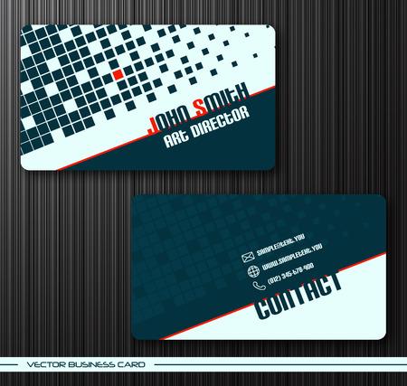 tarjetas de presentación creativas abstractas (plantilla de conjunto)