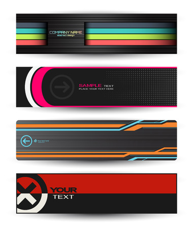 Set of abstract banners for your design Illustration