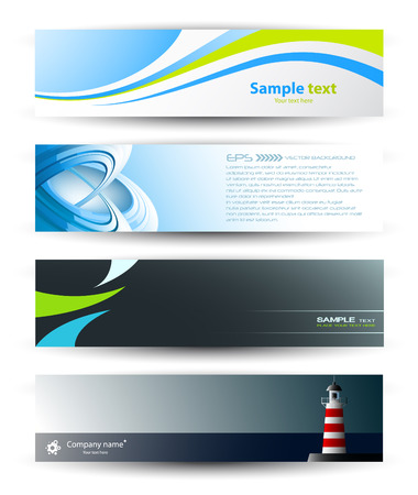 Set of abstract banners for your design Stock Vector - 9089202