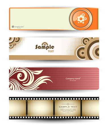 Set of abstract banners for your design Vector