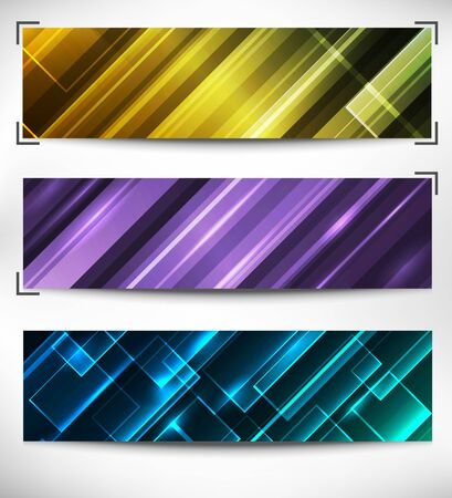 abstract web banner, creative design Stock Vector - 9668079