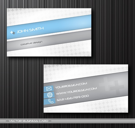 set template: abstract creative business cards (set template) Illustration