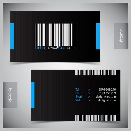 Vector abstract creative business cards (set template) Stock Vector - 9818470