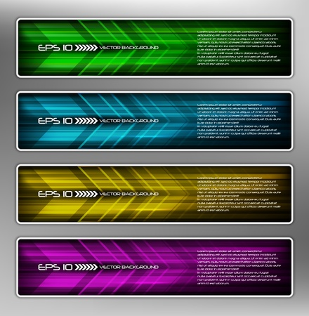 banner effect: vector abstract web banner, creative design Illustration