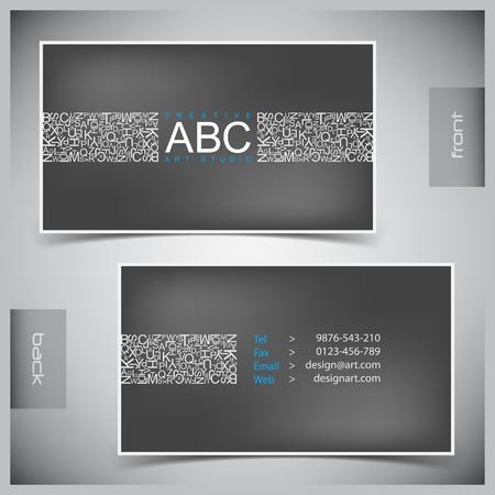 Resumen de vectores de tarjetas de visita creativas (plantilla de conjunto) Ilustración de vector